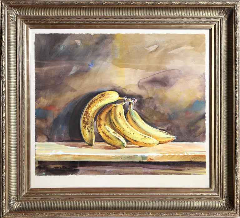 Artist: Ed Ahlstrom, American (1944 - ) Title: Bananas Year: 1983 Medium: Watercolor on Paper, signed Size: 20 in. x 24 in. (50.8 cm x 60.96 cm) Frame Size: 29.5 x 33 inches