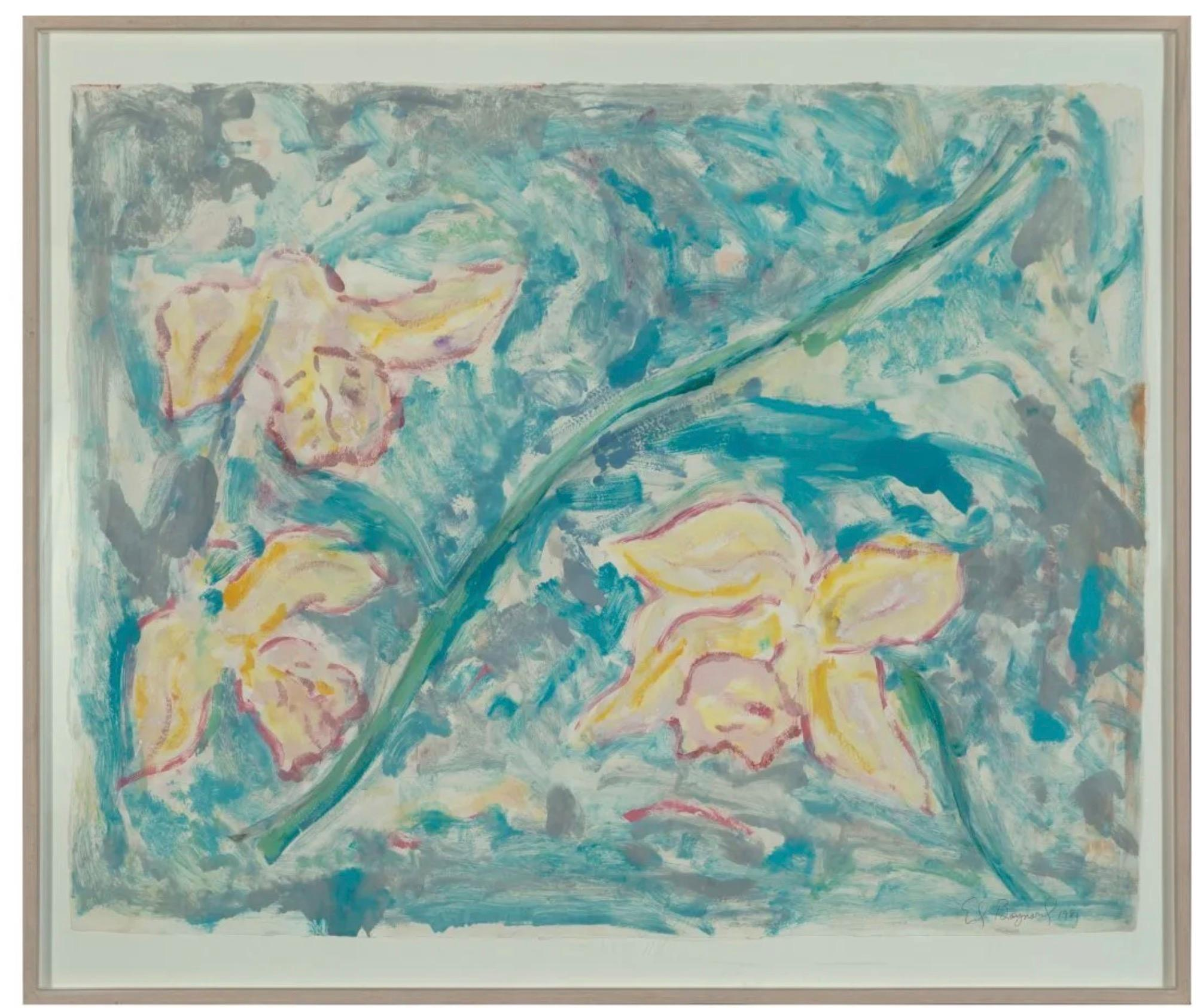 Rare Untitled Monotype with Hand Coloring by Ed Baynard