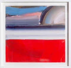 Large Colorful Abstract Lithograph by Ed Clark