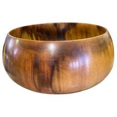 Ed Edward Moulthrop Signed Large Turned Figured Tulipwood Centerpiece Bowl