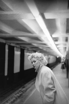 Marilyn In Grand Central Station (1955) Silver Gelatin Fibre Print
