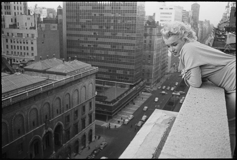 Ed Feingersh Black and White Photograph - Marilyn On The Roof (1955) - Silver Gelatin Fibre Print