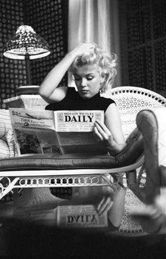 Marilyn Relaxes In A Hotel Room