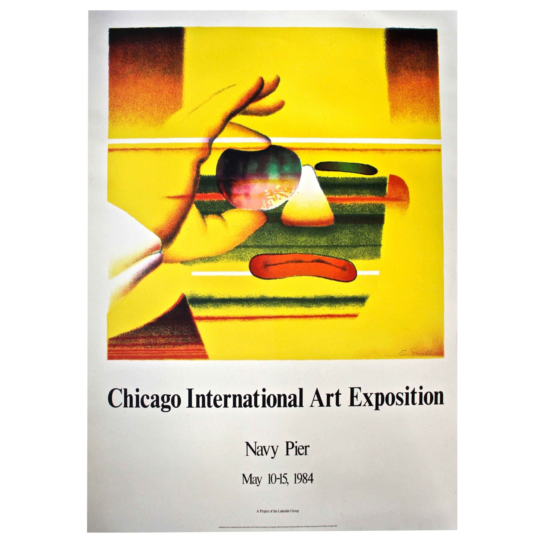 Ed Paschke 'Chicago International Art Exposition' 1984 Original Poster