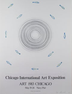 """Chicago International Art Exhibition,"" Abstract Poster signed by Ed Ruscha"