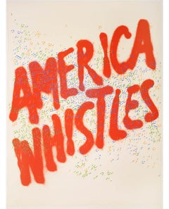 Ed Ruscha, America Whistles, lithograph, signed, 1975