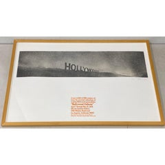 Ed Ruscha Pencil Signed Exhibition Poster 1970