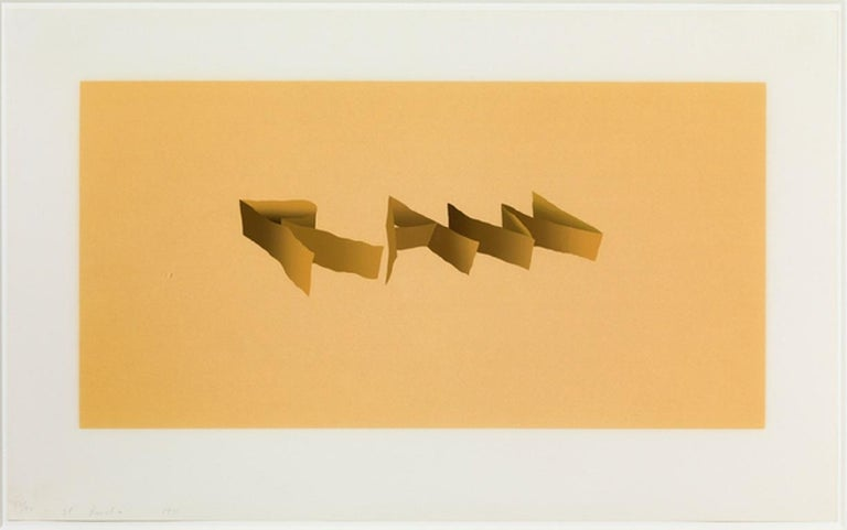 Ed Ruscha's 1971 screenprint on paper 'Raw' is beautifully framed. This piece is signed and numbered by the artist and is from an edition of 90.  This work is in excellent condition!  Please contact with any further questions!