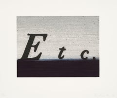 Etc. -- Print, Lithograph, Text Art by Ed Ruscha