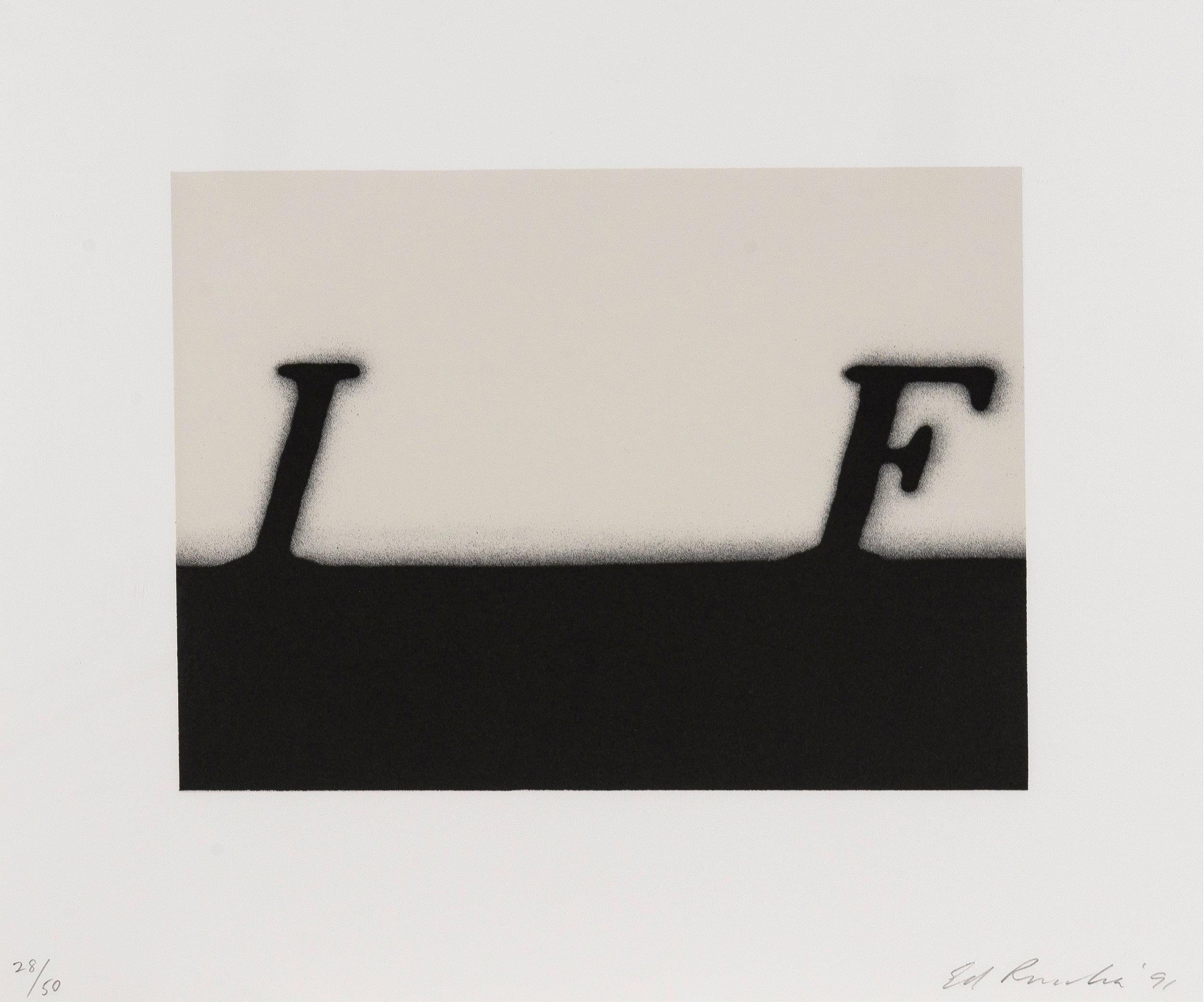 If -- Print, Lithograph, Text Art by Ed Ruscha