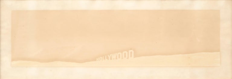 Ed Ruscha Abstract Print - Pepto-Caviar Hollywood