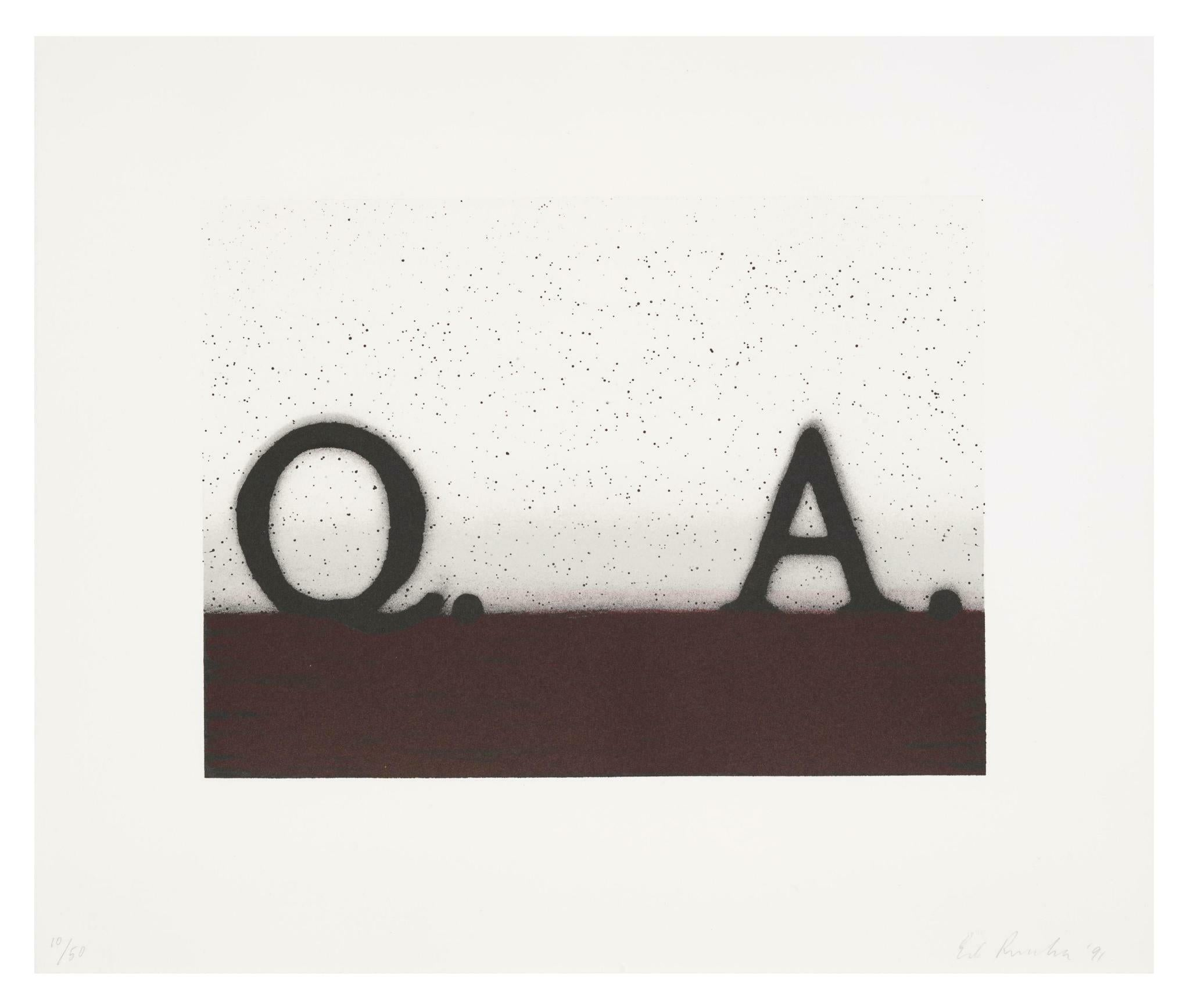 Question & Answer -- Print, Lithograph, Text Art by Ed Ruscha