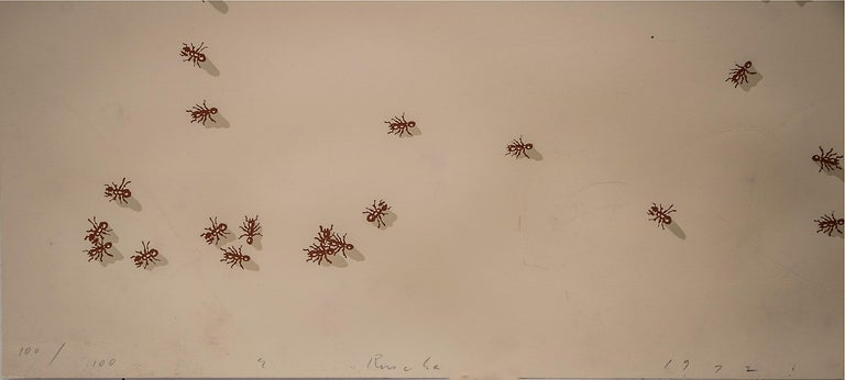 Swarm of Red Ants (Insect Portfolio) - Print by Ed Ruscha