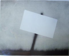 Untitled (Blank Sign); 1989; Lithograph on grey Rives BFK paper; 27 x 36 inches