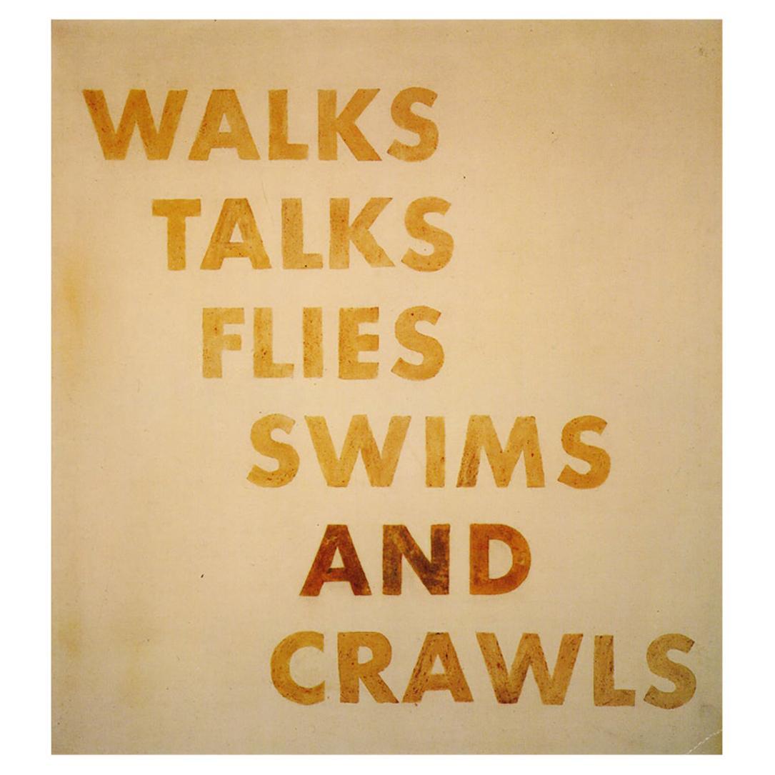 Ed Ruscha Robert Miller Gallery, 1992 'Announcement'