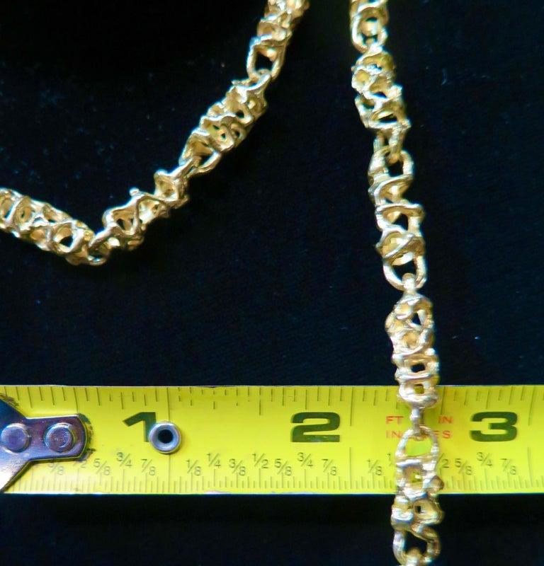 Modern Ed Wiener 18k Gold Necklace