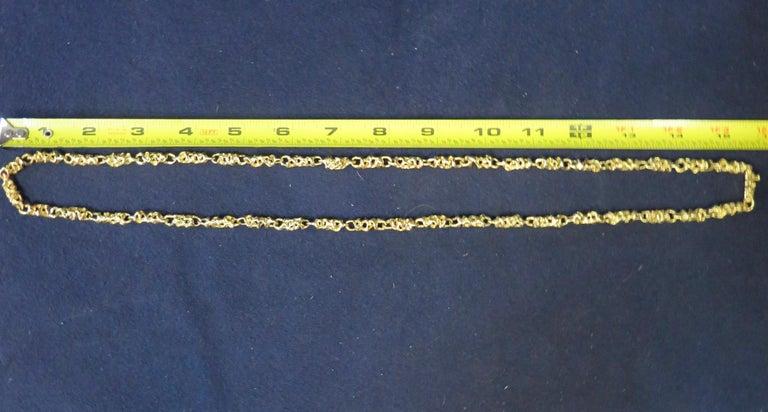 American Ed Wiener 18k Gold Necklace