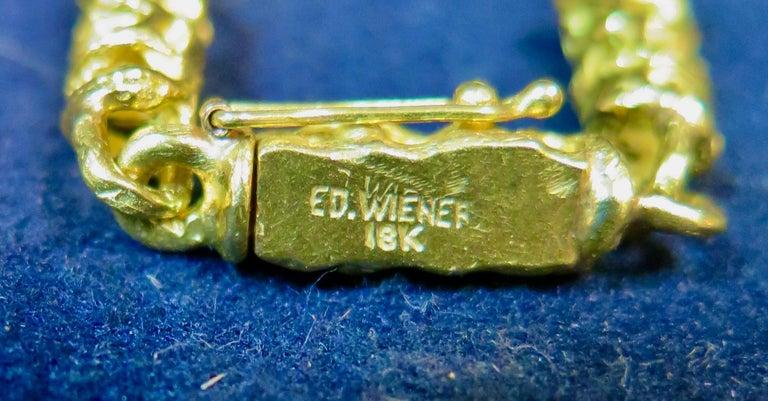 20th Century Ed Wiener 18k Gold Necklace