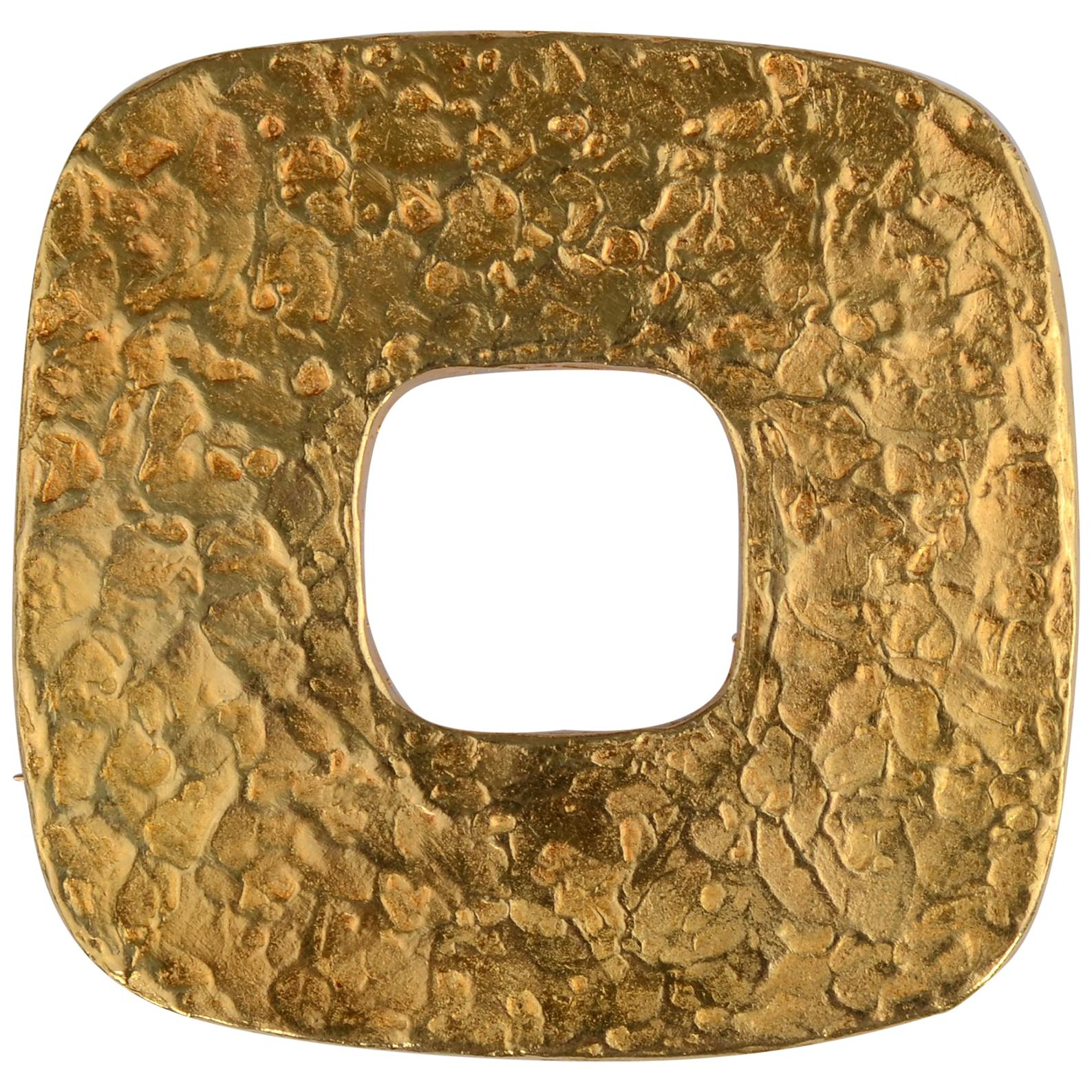 Ed Wiener Gold Pendant or Brooch