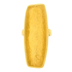 Ed Wiener Modernist Gold Ring circa 1970s New York
