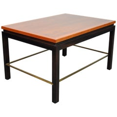 Ed Wormley for Dunbar Mahogany and Brass Side Table
