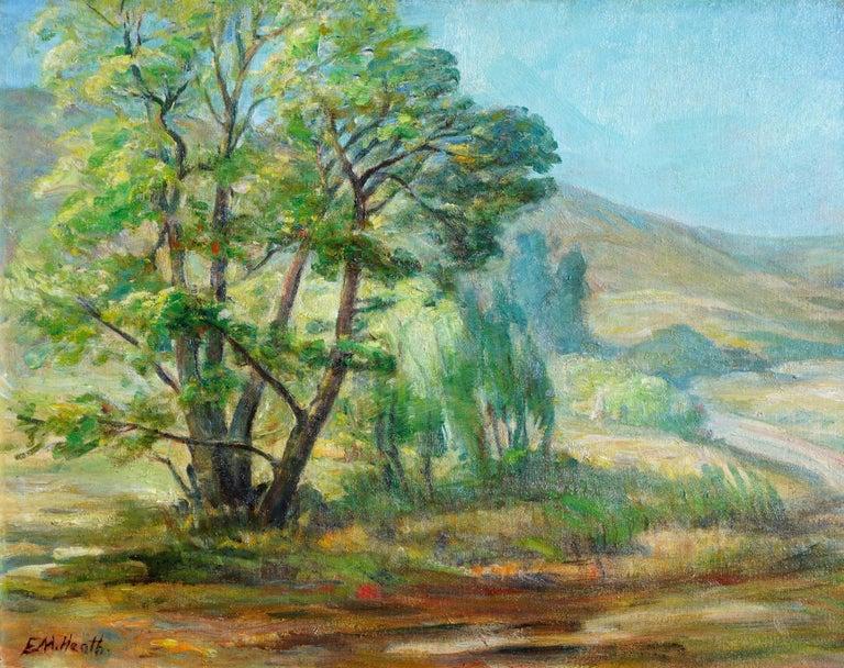 Paraiso Hot Springs-- Santa Lucia Foothills Plein Air California Landscape - Painting by Edda Maxwell Heath