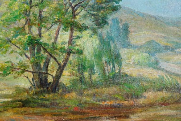 Paraiso Hot Springs-- Santa Lucia Foothills Plein Air California Landscape - American Impressionist Painting by Edda Maxwell Heath