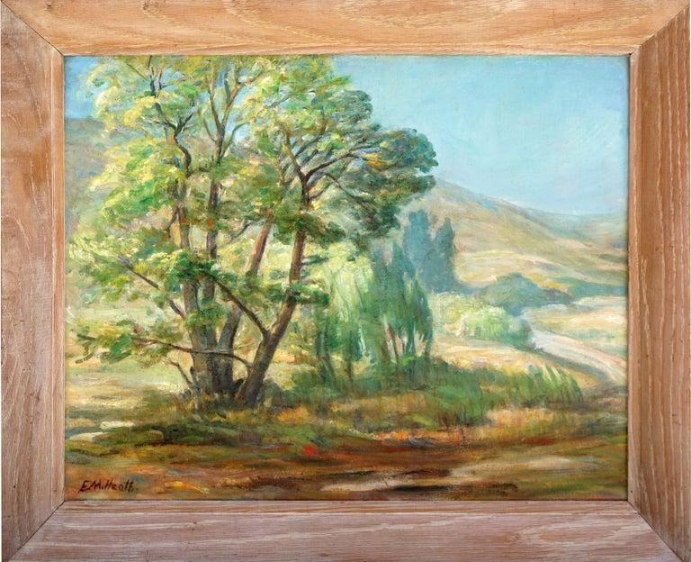 Edda Maxwell Heath Landscape Painting - Paraiso Hot Springs-- Santa Lucia Foothills Plein Air California Landscape