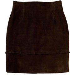 Eddi Brown Suede Skirt Sz IT42