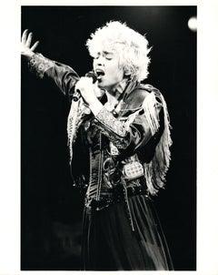 Madonna Singing Vintage Original Photograph