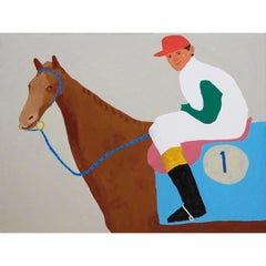 'Eddie Marsh and an Inconvenient Wind' Portrait Painting by Alan Fears Horse