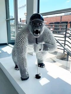 Gorilla Golfer - Silicon and Swarovski gems - Eddy Maniez