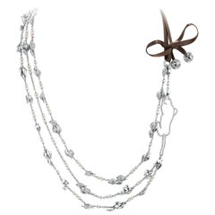 """Édéenne Panther & Leave """"Jungle"""" Necklace in Diamonds, Pearls and 18 Karat Gold"""