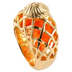 """Édéenne Playful Diamonds and Color Gems in 18k Yellow Gold """"My desires"""" Ring"""