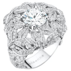 "Édéenne Two Carat D-Color GIA Certified Diamond ""Full Moon"" Ring"