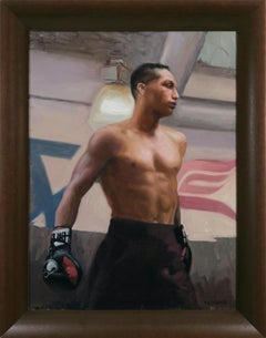 Saturday Night Fights, Boxing, Jarrod Tennant, Figurative Painting, Cuban Artist
