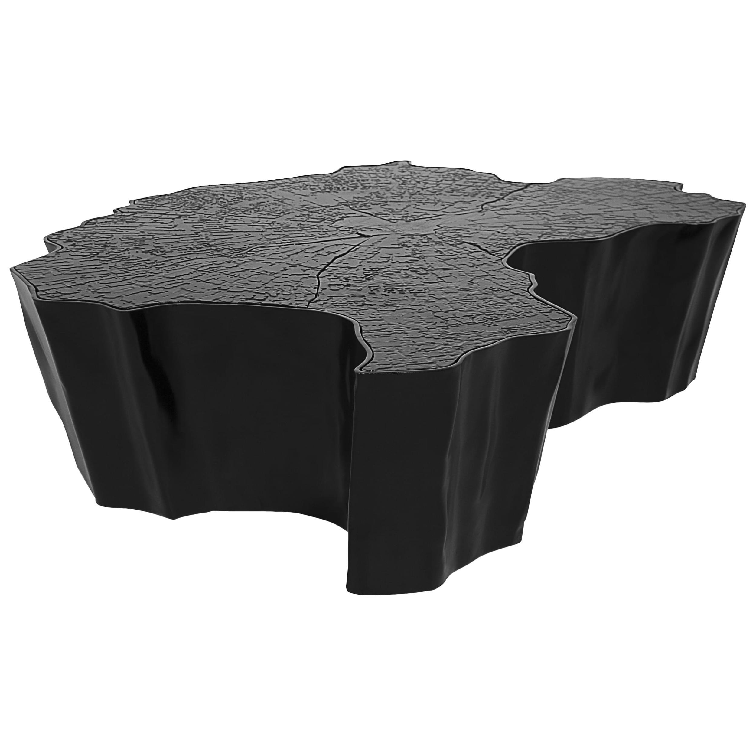 Eden Big Center Table in Black Lacquered Aluminum