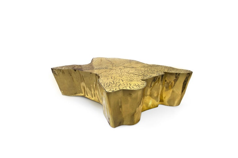 Modern Eden Big Center Table in Brass For Sale