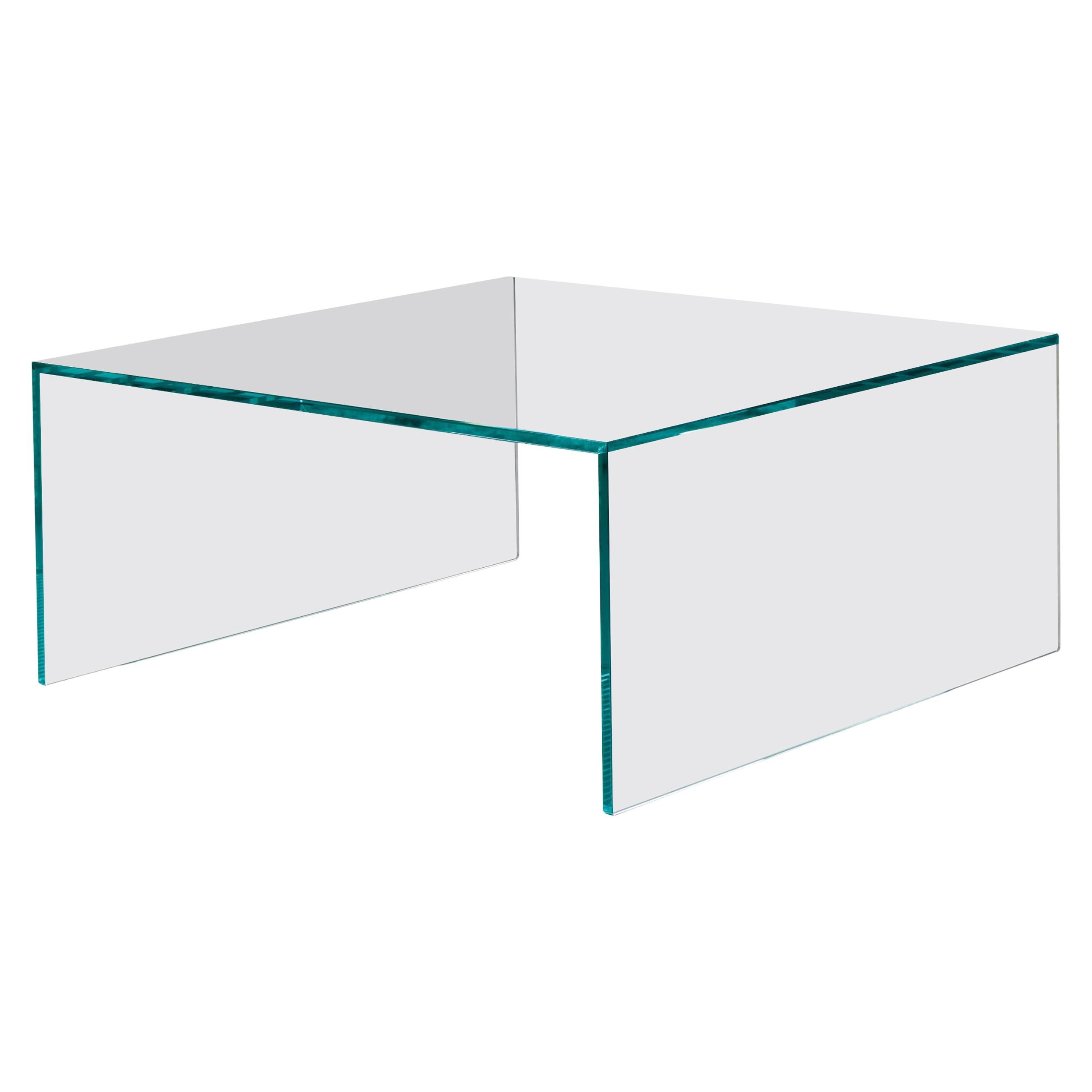Eden Glass Coffee Table, Designed by M.U, Made in Italy