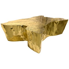 Eden Large Coffee and Cocktail Table in Polished Casted Brass