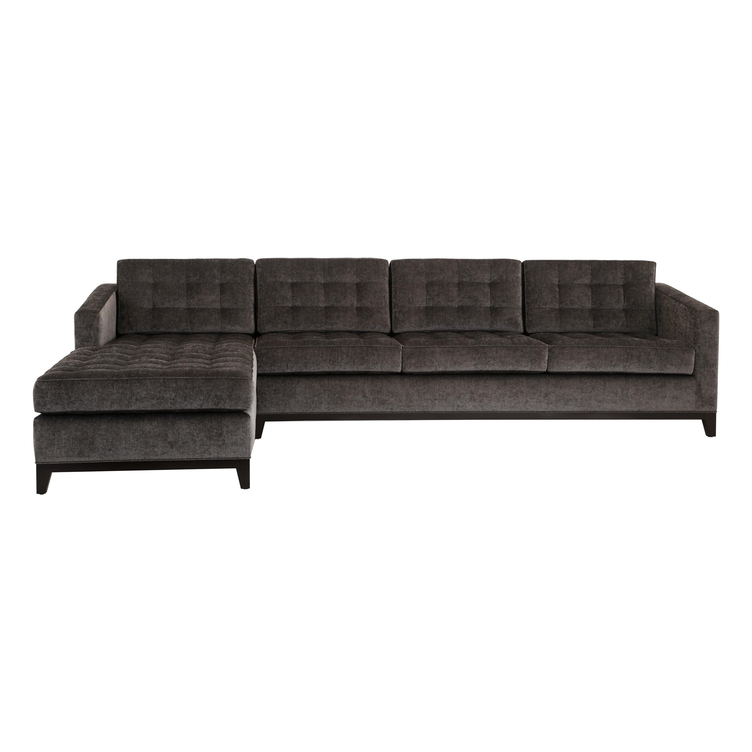 Eden Sectional Loose Seat and Back Cushions, Pull Tufting