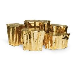Eden Series Center Table in Brass by Boca do Lobo