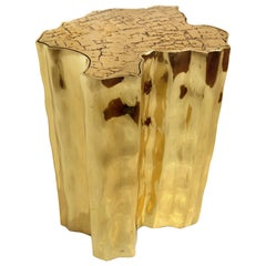 Eden Side Table in Gold