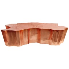 Eden Small Center Table with Copper Leaf Finish