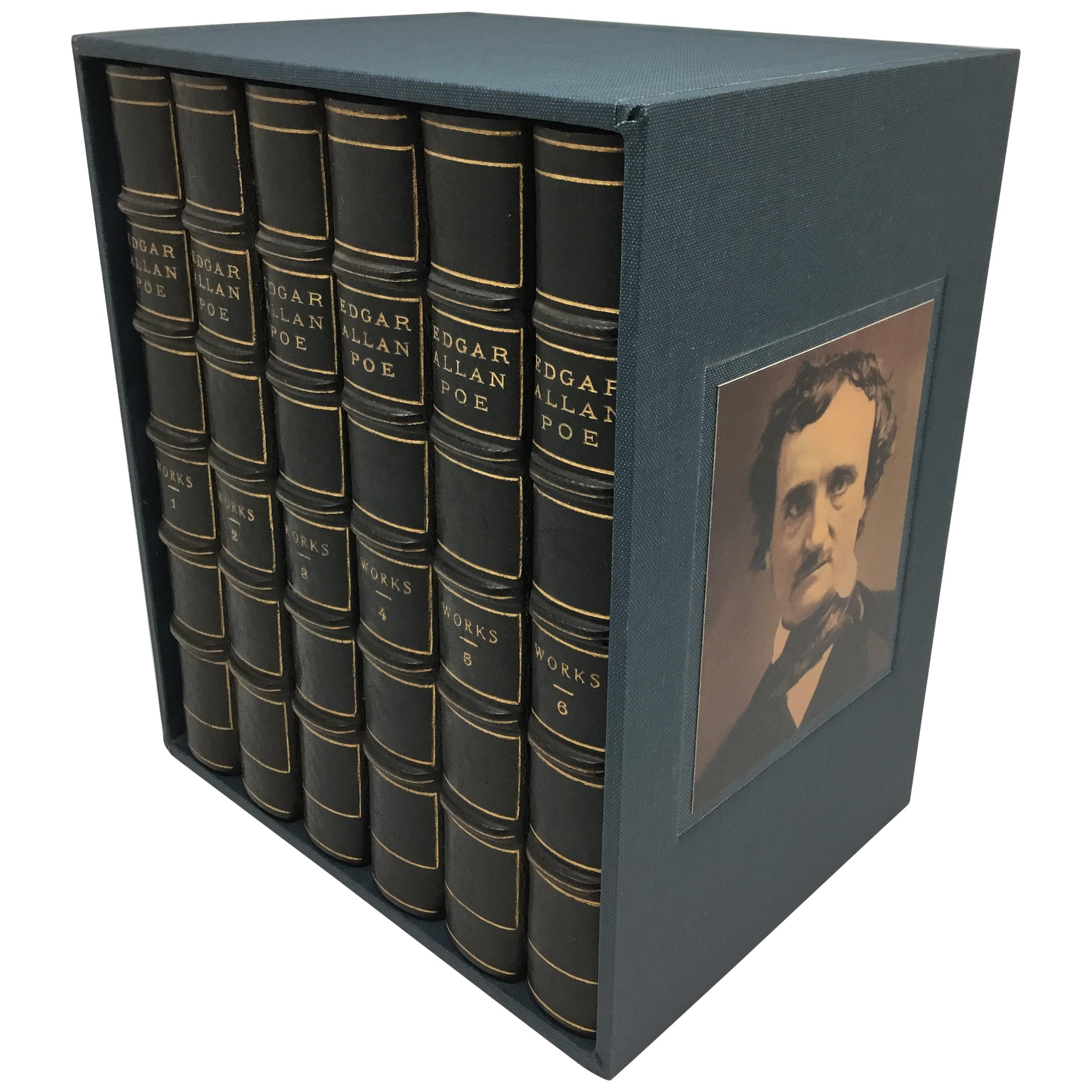Edgar Allan Poe, 6 Volume Putnam Edition in Period Leather Bindings, 1902