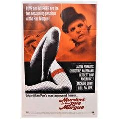 "Edgar Allen Poe's ""Murders in the Rue Morgue"" 1971 Original Horror Movie Poster"