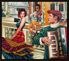 Edgar Barrios ** Bohemian Venice I **Original Oil On Canvas