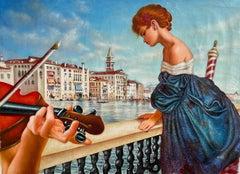 Edgar Barrios ** Bohemian Venice II **Original Oil On Canvas