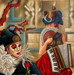 Edgar Barrios ** Fly-Fly **Original Oil On Canvas