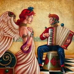 Edgar Barrios ** Song For an Angel **Original Oil On Canvas